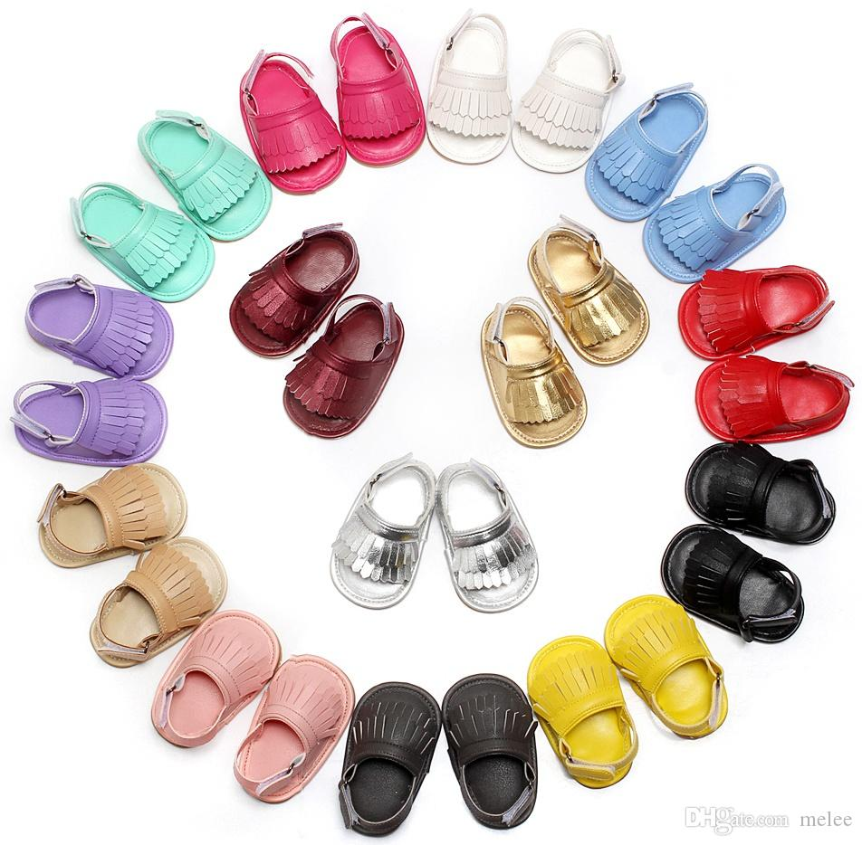 2016 New PU Leather Tassel Balance Soft Bottom Toddler Casual Sandals Infant  Walking Sports Turf Shoes Barefoot Sandals Free Dhl Ups Ship Baby Bow  Moccasins ... 0e9dcac679b5