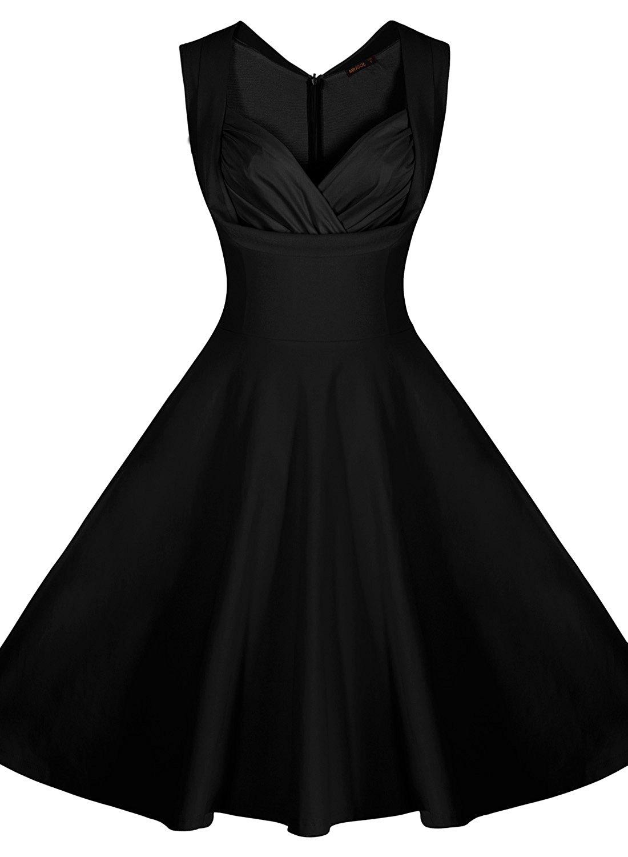 Swing 1950s 1960s 1920s Polka Dot Dresses Short Ball Gowns Women\'S ...