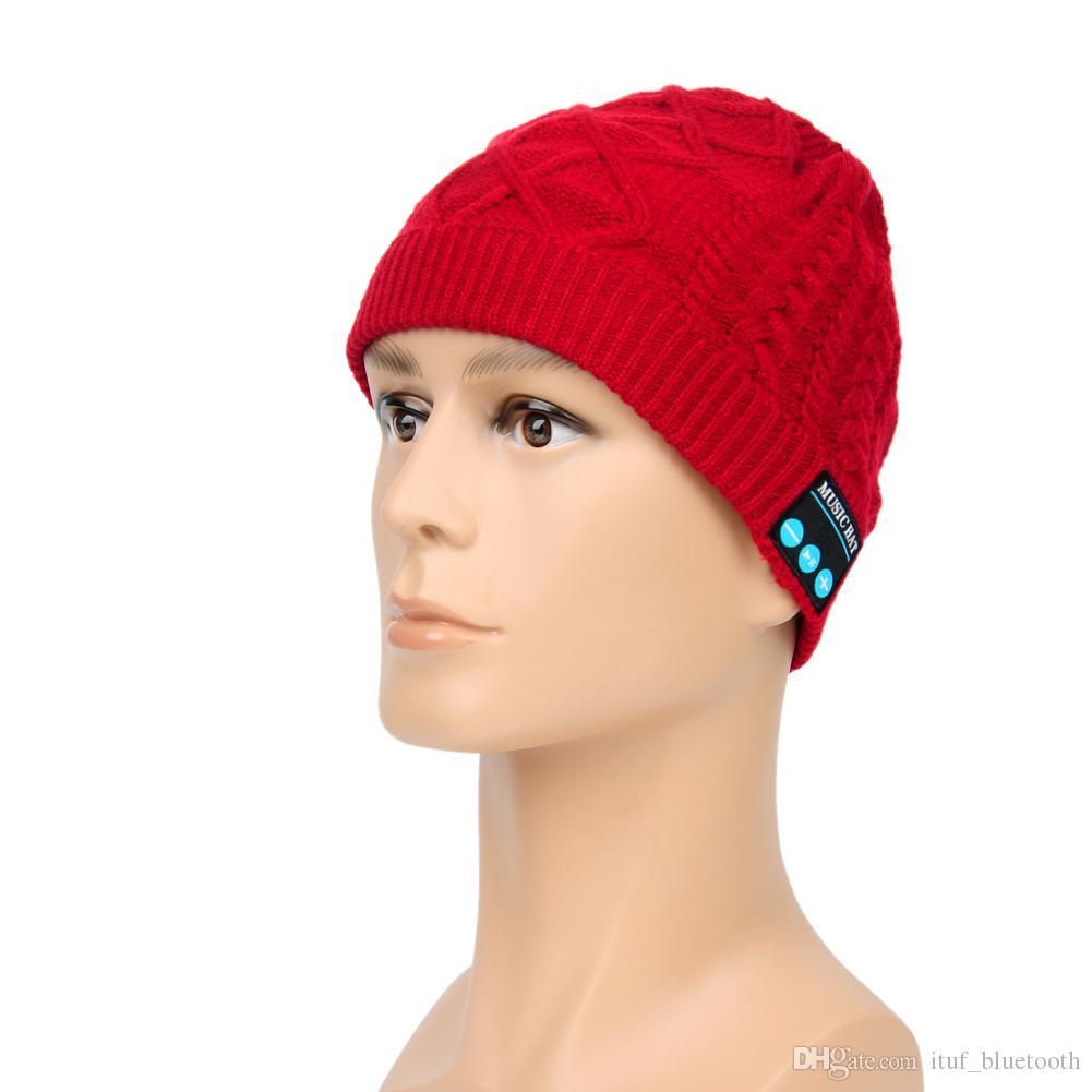 Beanie Hat Wireless Talk Call Bluetooth Smart Cap Headphone Headset Speaker Mic Skullies