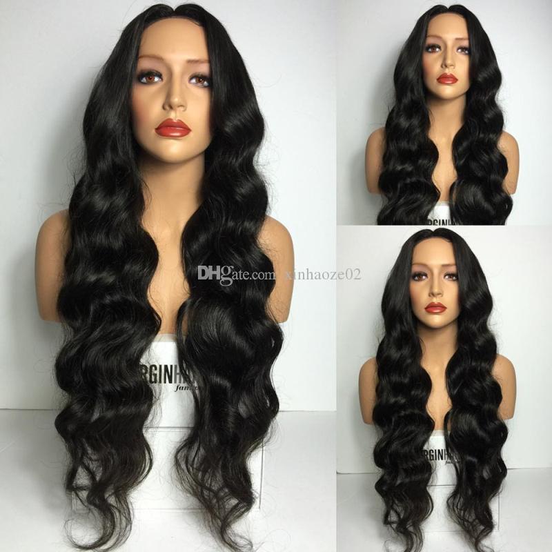 8A Grade pleine densité vierge brésilienne de cheveux humains perruques pleine dentelle perruque dans naturel bébé cheveux hairline dentelle avant perruque sans colle perruque