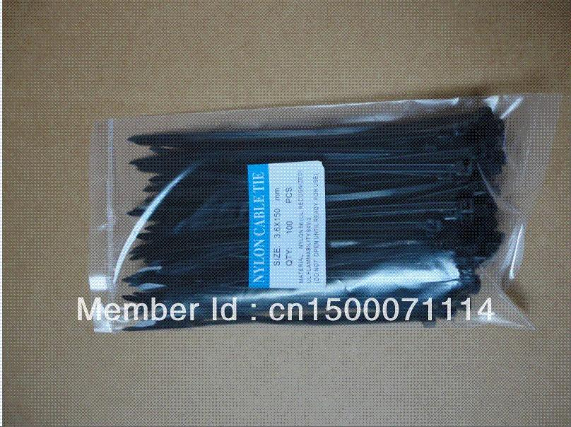 Cable Wire Zip Ties /Pack Black Nylon Cable Ties 3.6 X 150 Mm 3d ...