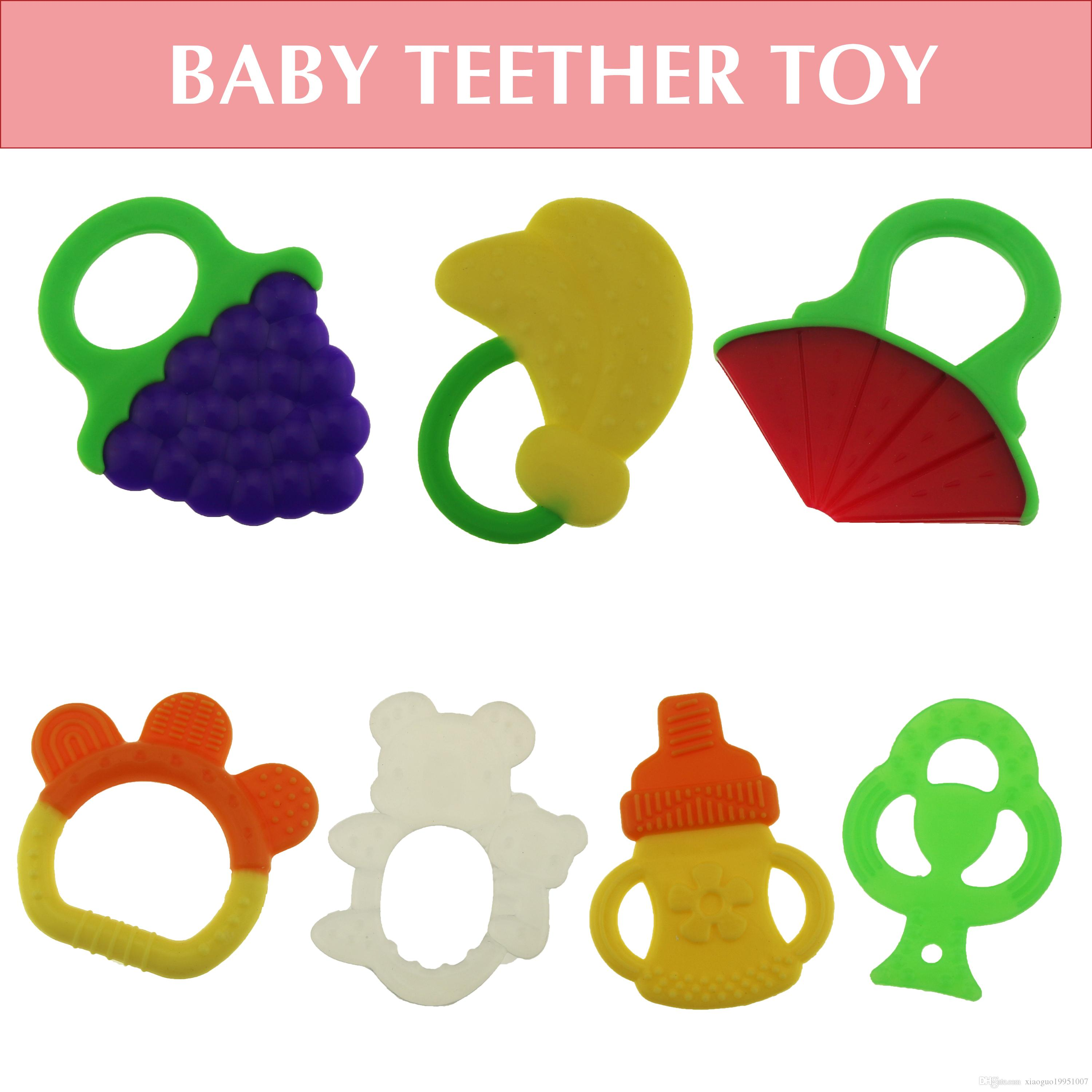 2017 Cute Baby Teether Toy Novel Fruit Design Easy To Grasp Infant