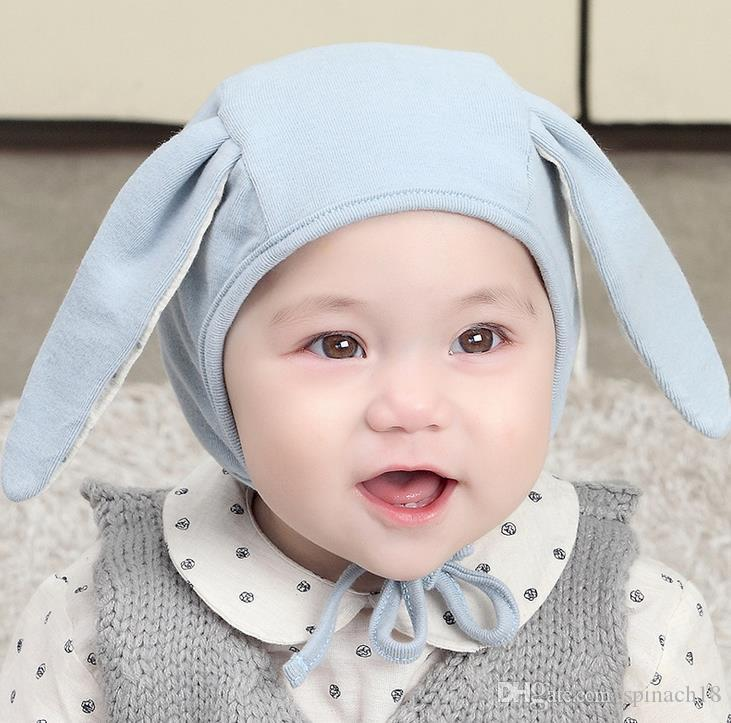 New Autumn Infant Baby Cartoon Bunny Ears Hat Kids Cotton Cap Girls Boys earmuffs Caps Children Babies Hats M78