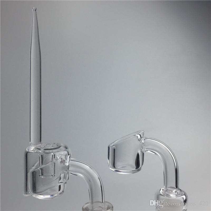 4mm banger quarzo berretto carb dabber tubi acqua in vetro 10mm 14mm 18mm maschio femmina olio rig club bangers carb al quarzo tappo dabbler