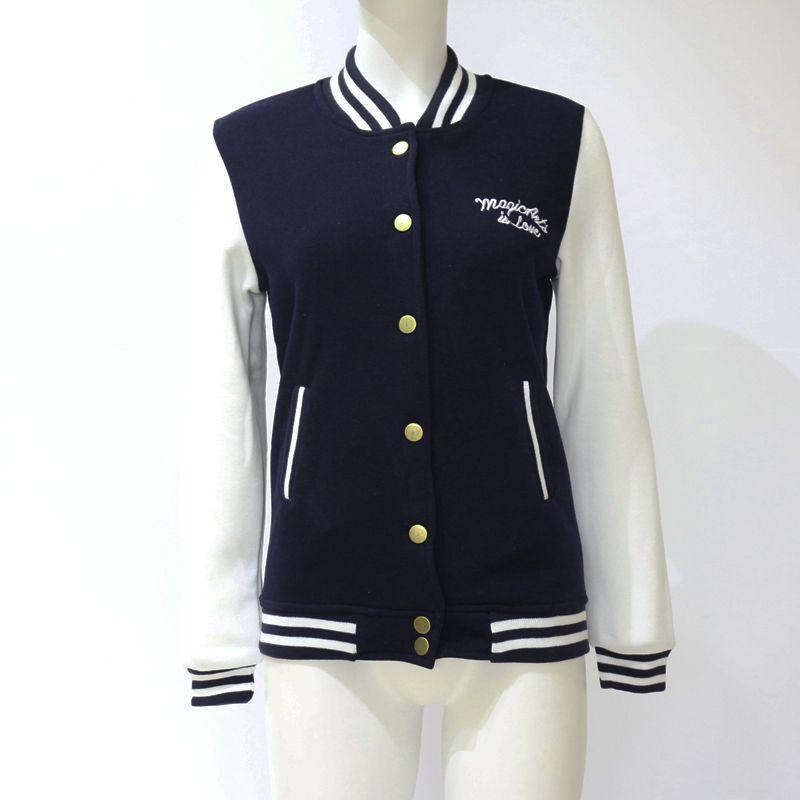 1 stücke Jersey 2017 Mode Frauen Langarm Dünne Baseballuniform oberbekleidung bomberjacke baseballjacke Hohe Qualität