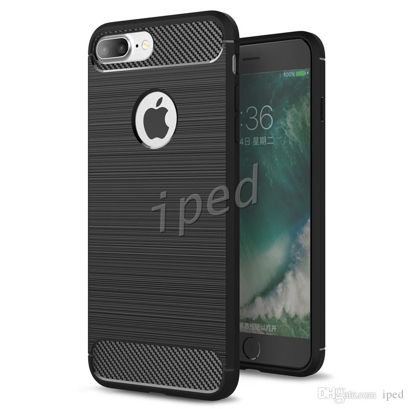 Rugged Armor Hybrid Carbon Fiber TPU Shockproof Hard Cover Case Combo Texture Brushed Skin For iphone 7 plus i6 i5 samsung s7 edge colors 50