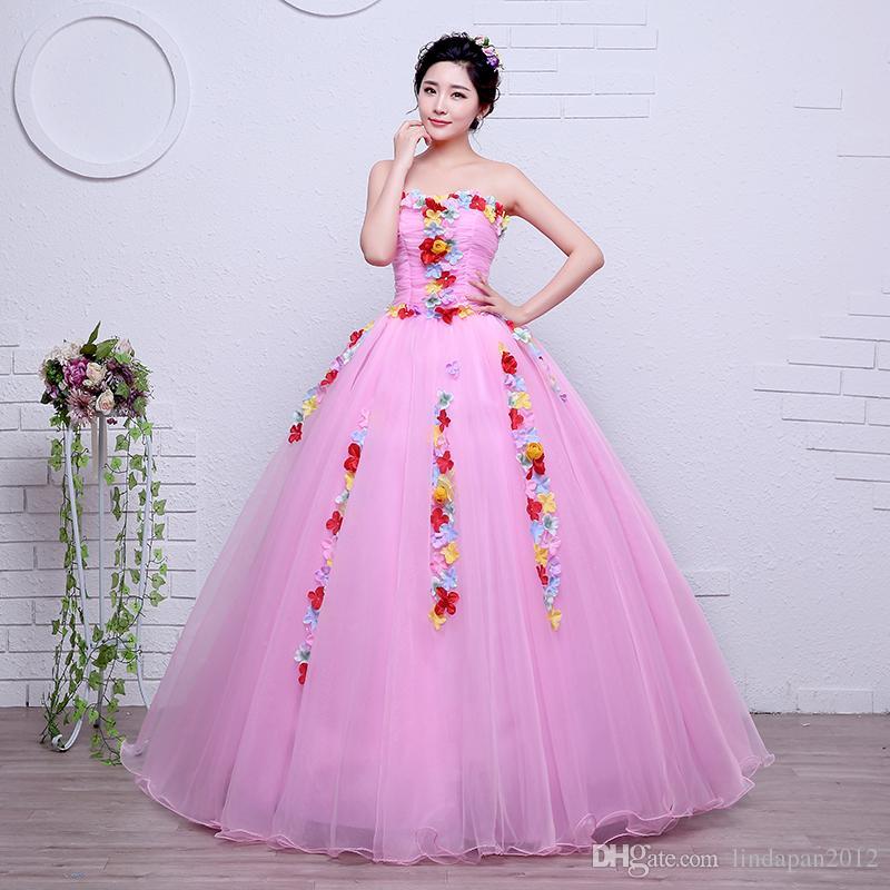 Compre Velnosa Rosa Vintage Cuello Alto Flores Sin Tirantes Vestido ...