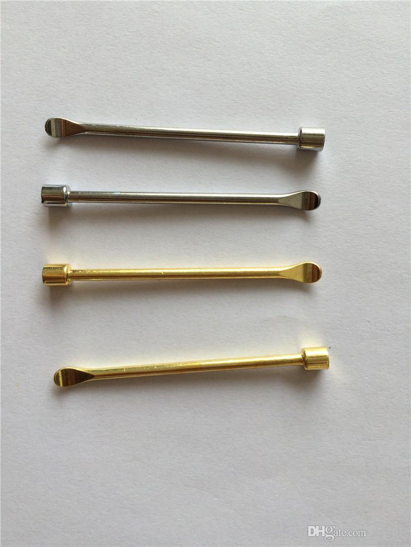 ワックスDabber Toolsワックスアトマイザー4スタイルシルバーゴールドカラーマットコンテナ用の120mm Dab Jarツールドライハーブの気化器ペン