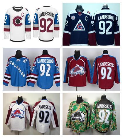 ... ado Avalanche 92 Gabriel Landeskog Jersey Ice Hockey Stadium Series  Landeskog Sports Home ... 8f2b461f7