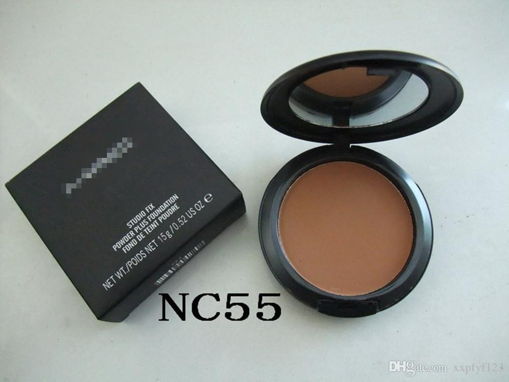 2017 Vendite calde MC Makeup Studio Fix Face Powder Plus Foundation POLVERE 15 g CON SCATOLA B726