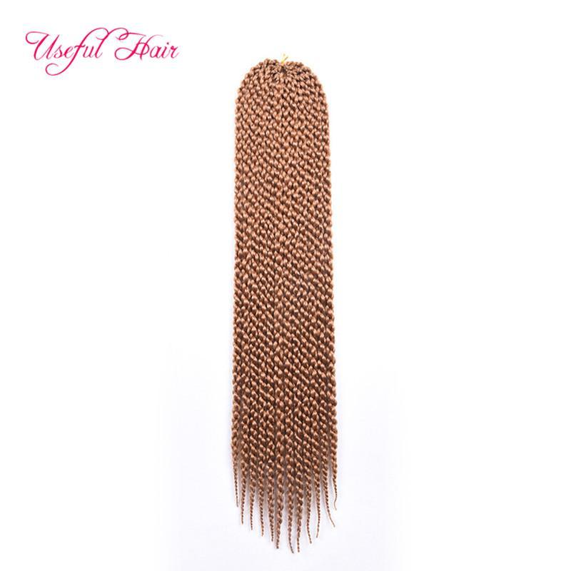 Synthetic Hair Extensions 22inch cubic twist 4s box braiding two tones blue purple #27crochet braids hair senegal twist braided in bundles