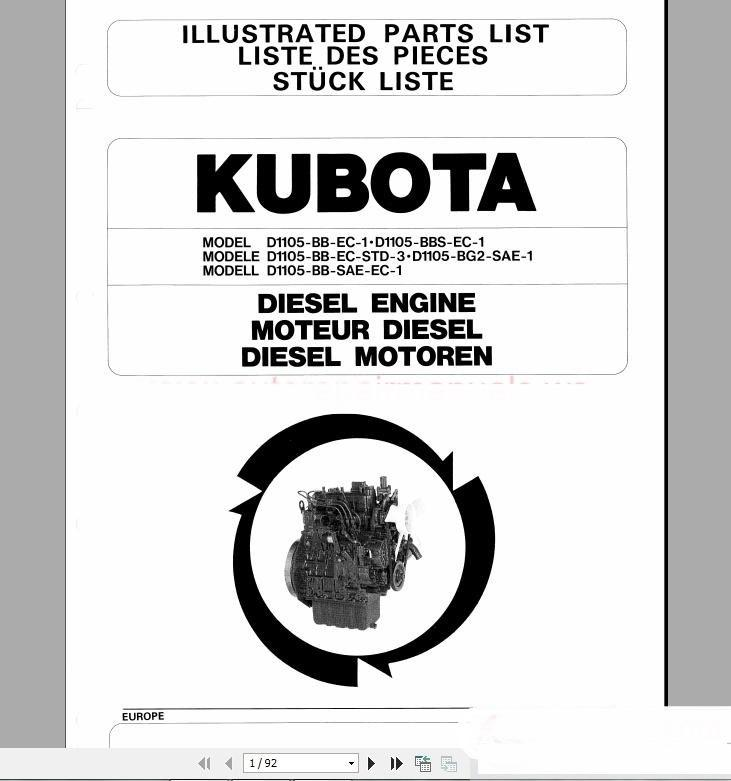 Ebook-9829] kubota engine d1703 parts manual | 2019 ebook library.