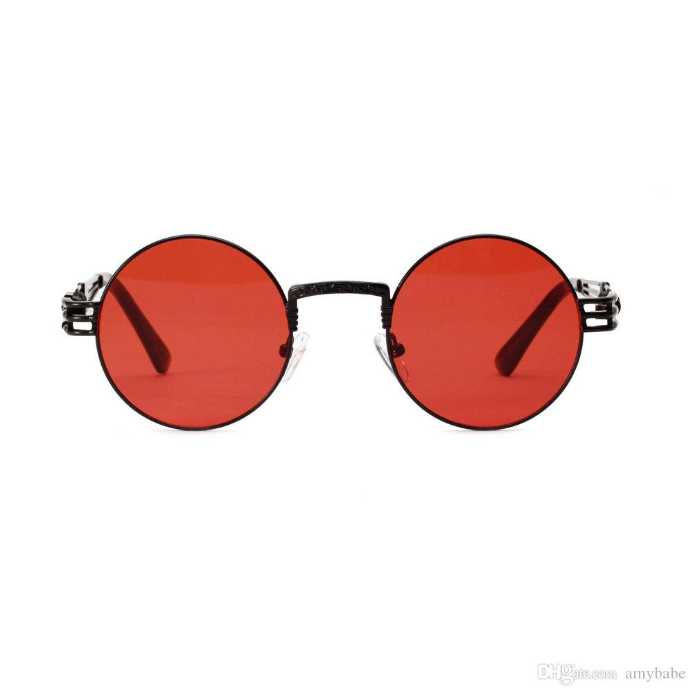 Glasses Spring Color Sunglasses Driving Select Men A1131 Frame Metal Round Retro Steampunk Women 6 And 4j35LRA