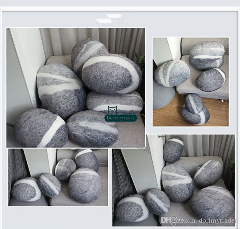 DorimyTrader Big Simulado Forma de Pedra Frete Almofada Suave Crianças Macios Pelúcia Pedra Pedra Brinquedo com algodão Frete grátis Dy61084