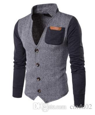 Großhandel Neue Strickjacke Kragen Herren Jacke Nähen Casual Jacke Pullover  Männer Patchwork Casual Mantel Von Cinda02,  46.08 Auf De.Dhgate.Com    Dhgate 1ce0a099c3