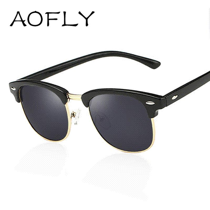 AOFLY CLASSIC Half Metal Sunglasses Men Women Brand Designer Glasses G15 Coating  Mirror Sun Glasses Fashion Oculos De Sol PS1580 Designer Glasses Sunglasses  ... 03a92f0409