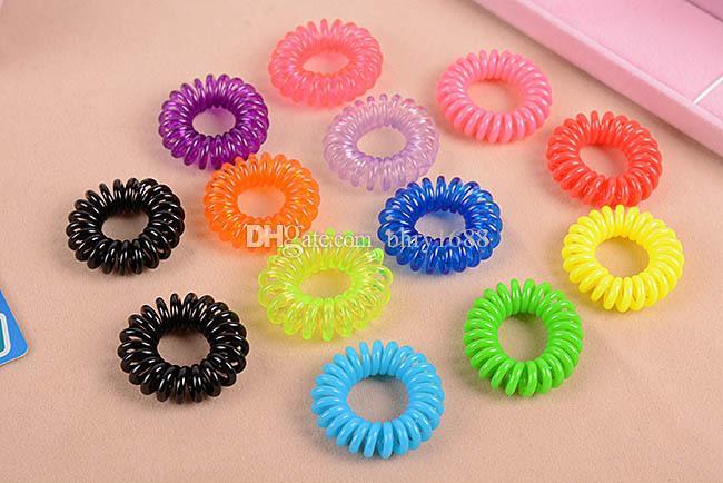 Mode Telefonleitung Elastische Haarbänder Haar Frühling Gummi haarseil bindet haar ring tragen zugang Durchmesser Frauen Pony Tails Halter 3 cm