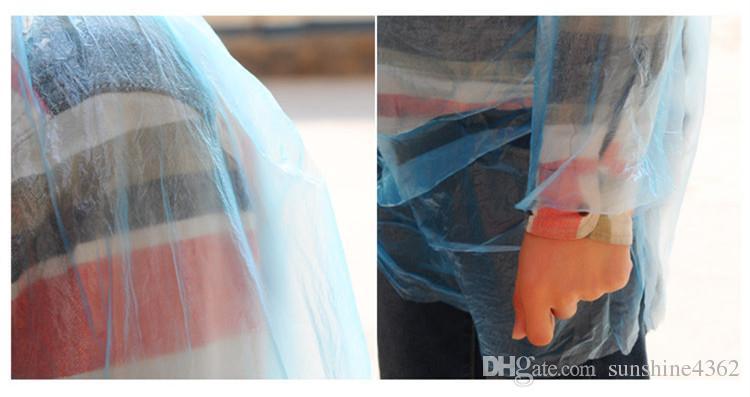 DHL libero di una volta Raincoat modo caldo monouso PE Impermeabili Poncho impermeabili Viaggi cappotto di pioggia Pioggia di usura Viaggi cappotto di pioggia