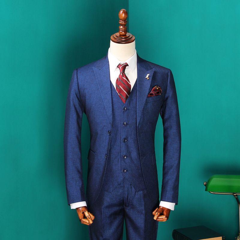 New Arrival Men\'s Vintage Wedding Dress Suits 2017 Male Fashion ...