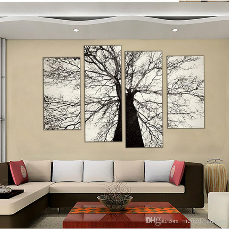 Best Quality 4 Picture Combination Famous Modern Paintings Black And ...
