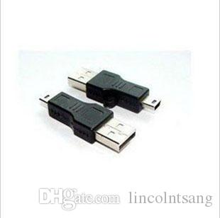 Wholesale Black USB A to B 5pin USB Cable Adapter For MP3 MP4 phone DHL FEDEX
