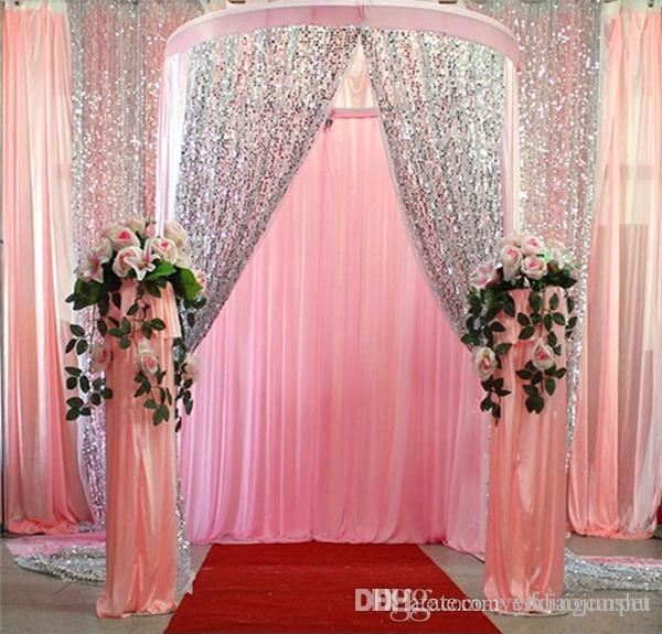 wedding curtains decoration glitter bling 9mm sequins fabric for wedding table cloth 8969