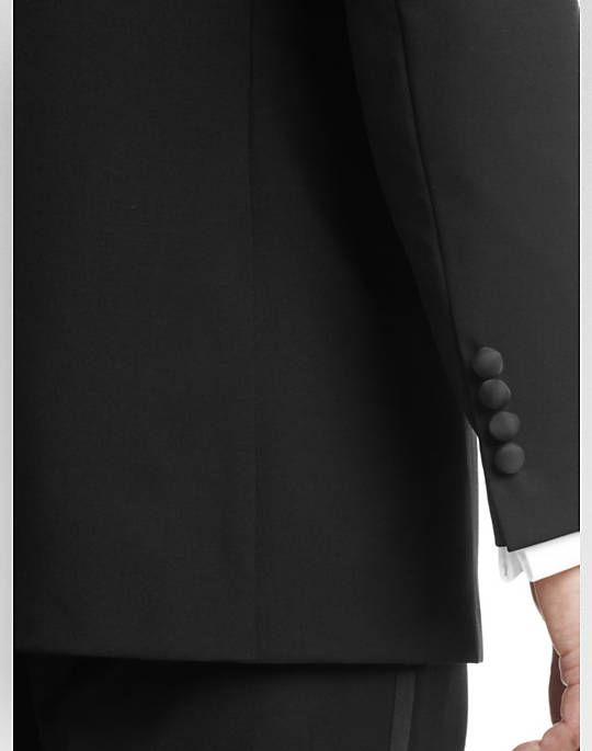 Fall 2017 Senaste Formella Mens Passar Western Style Peaked Lapel Two-Piece Black Custom Made Groomsmen Passar Tuxedo