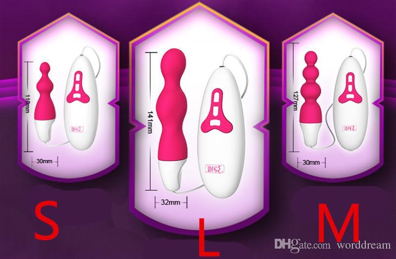 10 Velocidade De Vibração De Silicone Anal Beads Butt Plug Ânus Prazer Estimulador Vibrador Em Jogos para Adultos Brinquedos Sexuais Para Mulheres E Homens