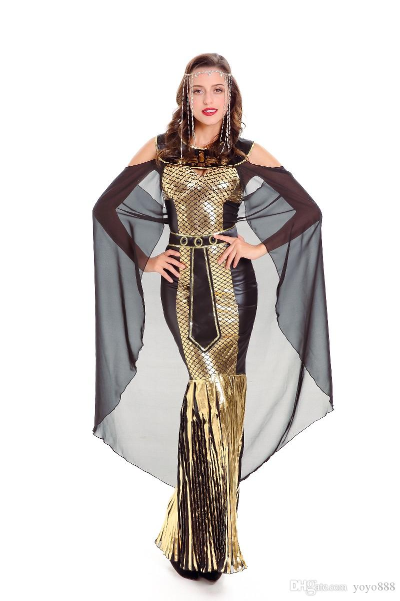 db41a4d1f 2019 Sexy Lingerie Egypt Cleopatra Goddess Roman Egyptian Ladies Halloween Fancy  Dress Costume 7186 From Yoyo888