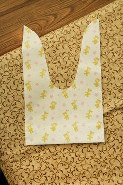 Nuevo bricolaje 200 unids / lote osos lindos 2 flores de colores abiertas superior bolsas / galletas preciosas pan de galletas bolsa de regalo 12.5 * 20.5 cm al por mayor