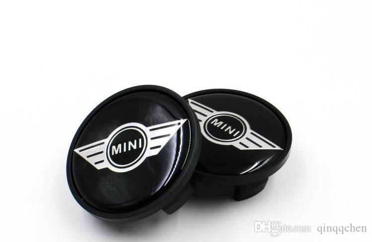 4 pçs / lote 54mm ABS Preto Emblema Do Carro Para MINI COOPER Mini Asas Centro Da Roda Tampa Do Cubo Tampa Se Encaixa Mais Rodas À Prova De Poeira Badge 36311171069
