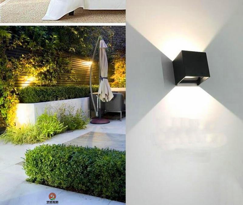 Lampada da parete esterna impermeabile 7W LED Source Up And Down Lighting Moderno minimalista Indoor Outdoor Engineering Portico luci del giardino parete