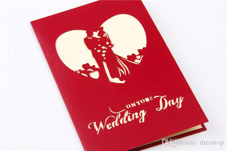 Creative 3d paper cut wedding invitation cards red personalized creative 3d paper cut wedding invitation cards red personalized party printable invitation card with envelope sealed card funny wedding invitations stopboris Image collections