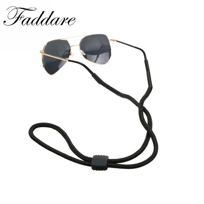 5pezzi nero occhiali da sole sportivi cavo regolabile supporto per occhiali da sole occhiali da sole supporto corda Occhiali Laccio Da Collo String chiave Band kzTJShi
