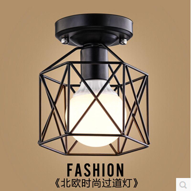 Plafonniers modernes avec ampoule vintage loft plafonnier créatif industriel rétro nostalgie café bar cuisine plafonnier