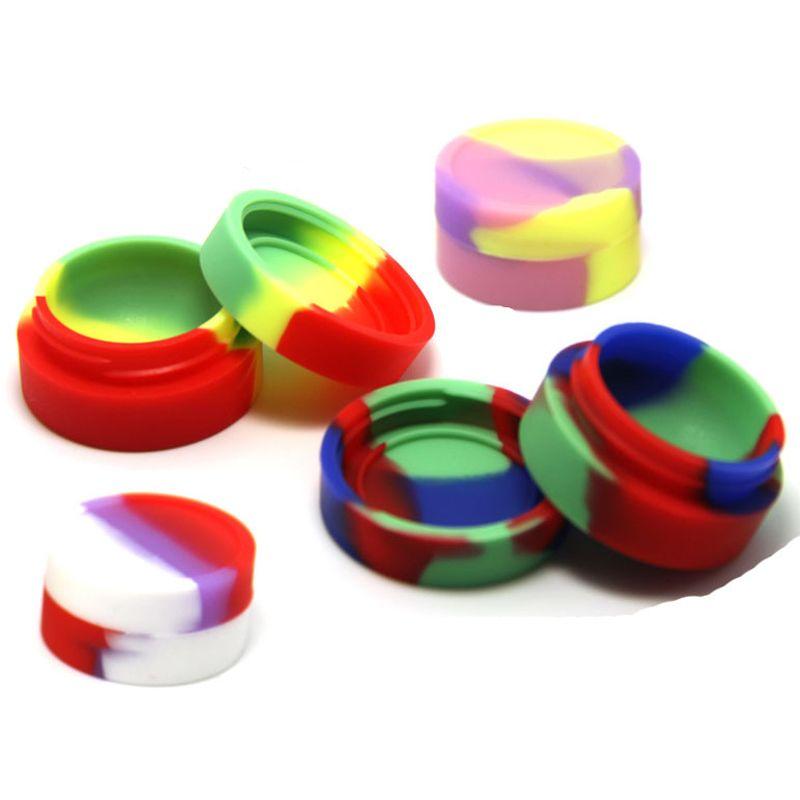 Ecigs Wachs-Behälter-Silikon-Kasten-nicht Stocköl-Slicks Silikon fertigte Bho-Öl-Behälter-kleines Silikon-Runde besonders an