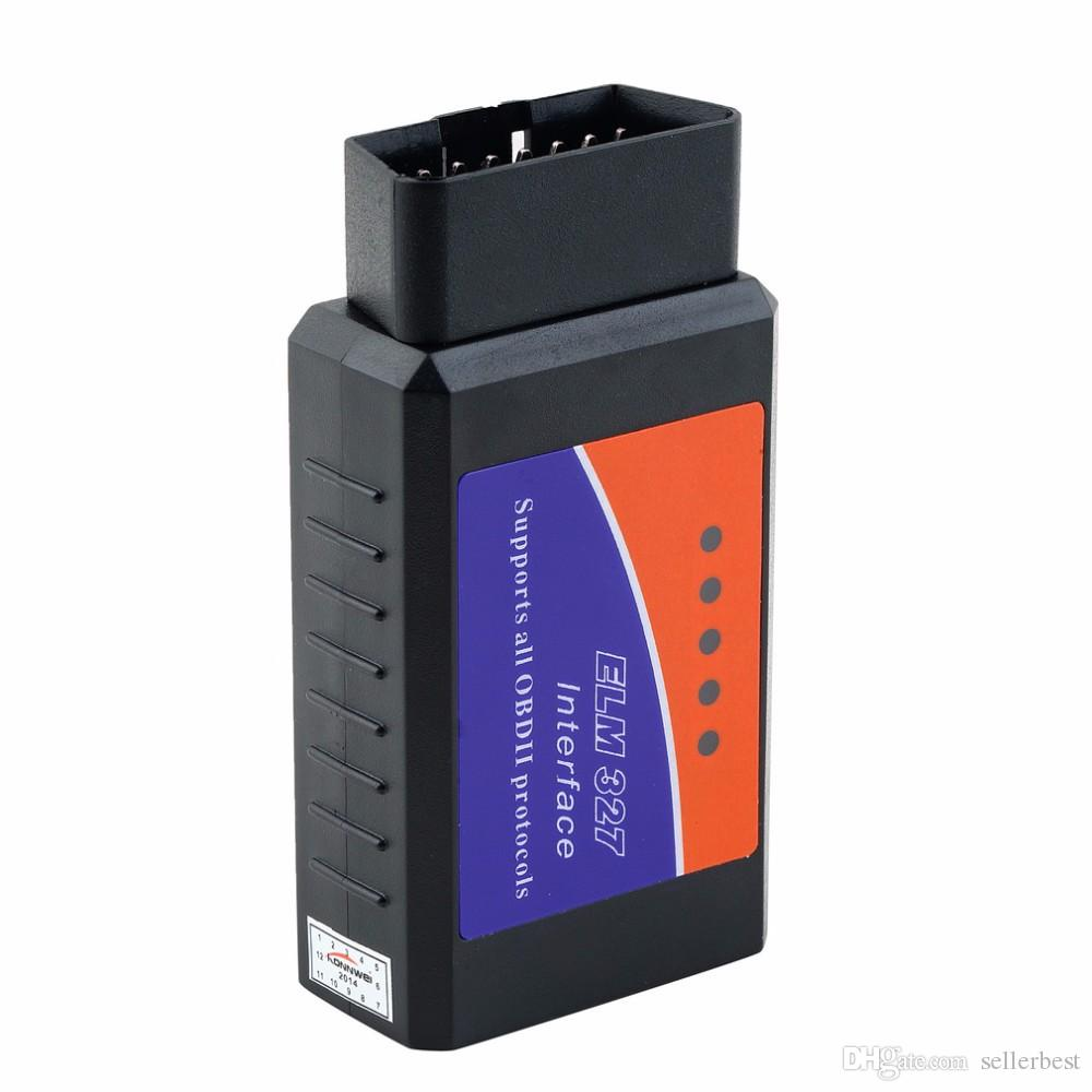 تعمل ELM 327 V1.5 Interface على أداة فحص الماسحة الضوئية OBD2 / OBD II التي تعمل بتقنية Android Torque CAN-BUS Elm327