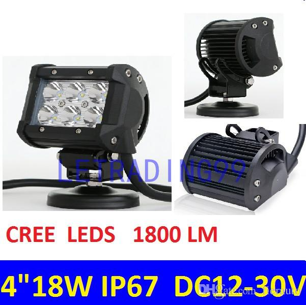 4 inCH LED Work Light Lamp for Motorcycle Tractor Boat Off Road 4WD 4x4 Truck SUV ATV Spot Flood 12v 24v 18W LED WORK LIGHT