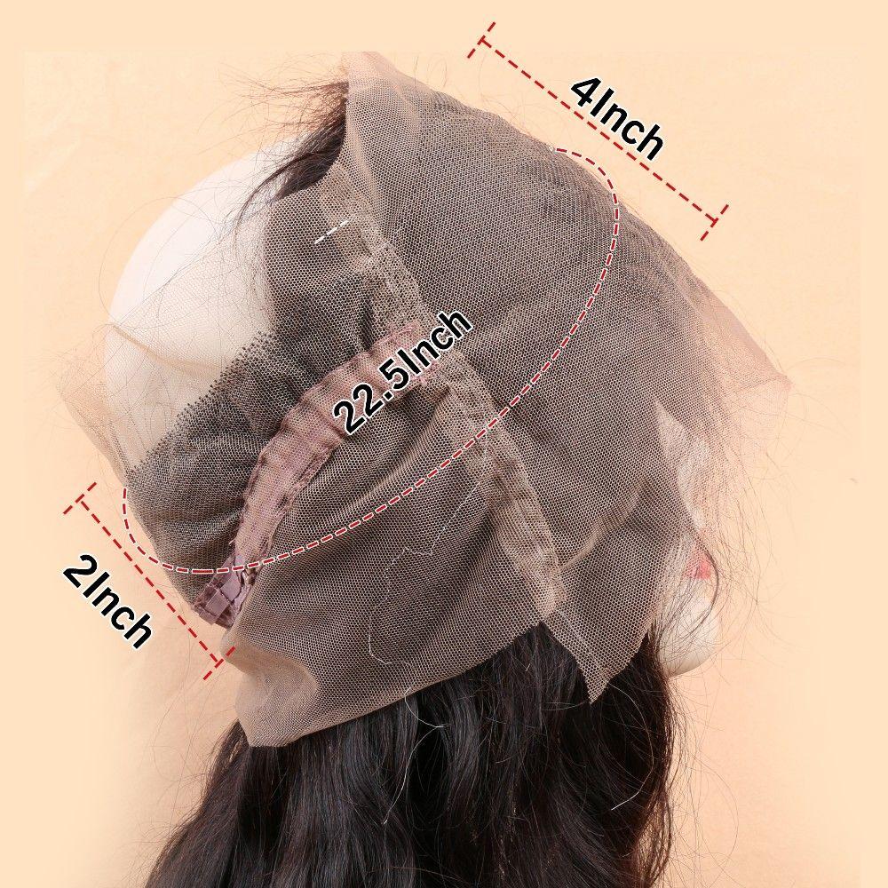 Кружева Лобной 360 С Пачки Малайзии Объемная Волна 360 Прифронтовой Полосы Малайзийские Виргинские Волосы С Закрытием 360 Фронтальной С Пучками
