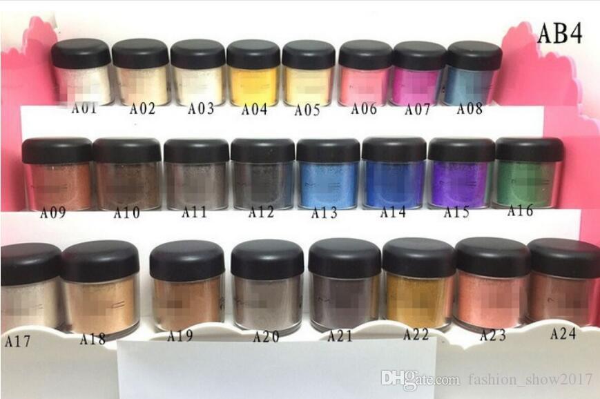 24 цвета теней для век порошок пигмент красочный макияж минеральные тени для век одного цвета пигмента 7.5 г порошковые тени для век