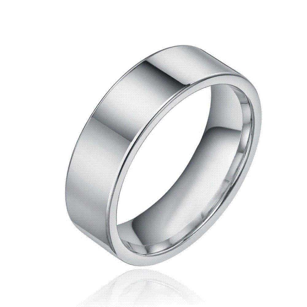 8mm Fashion Silver Tungsten Carbide Ring Men Tungsten Wedding