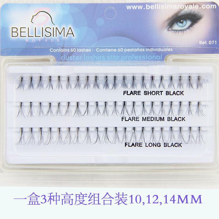 False Eyelashes Natural Individual Lash Extensions Professional Contain 60 Lashes Fake Eyelash Flare Short/Medium/Long Black 10mm 12mm 14mm