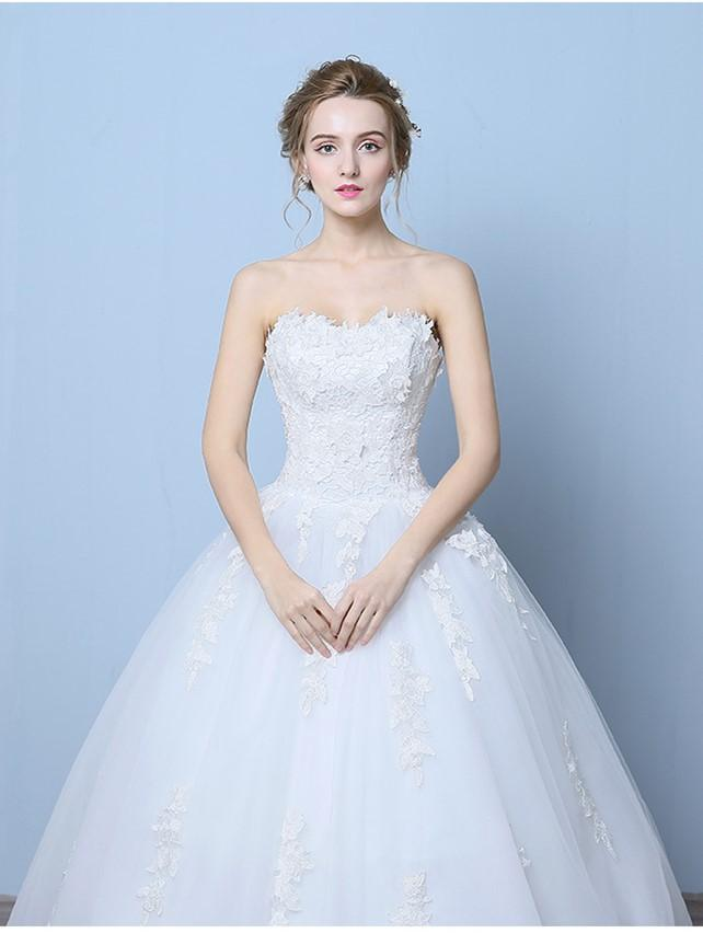 Wedding Dress Gown For 2017 Princess Bride Wedding Wear High Waisted ...