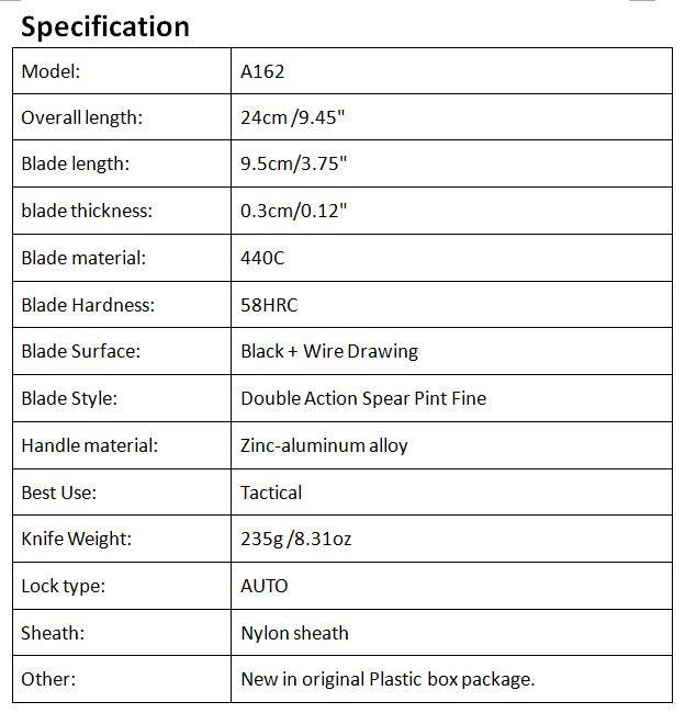 Специальное предложение Allvin производство A162 авто тактический нож 440c двойного действия половина зубчатого лезвия открытый кемпинг туризм выживания EDC