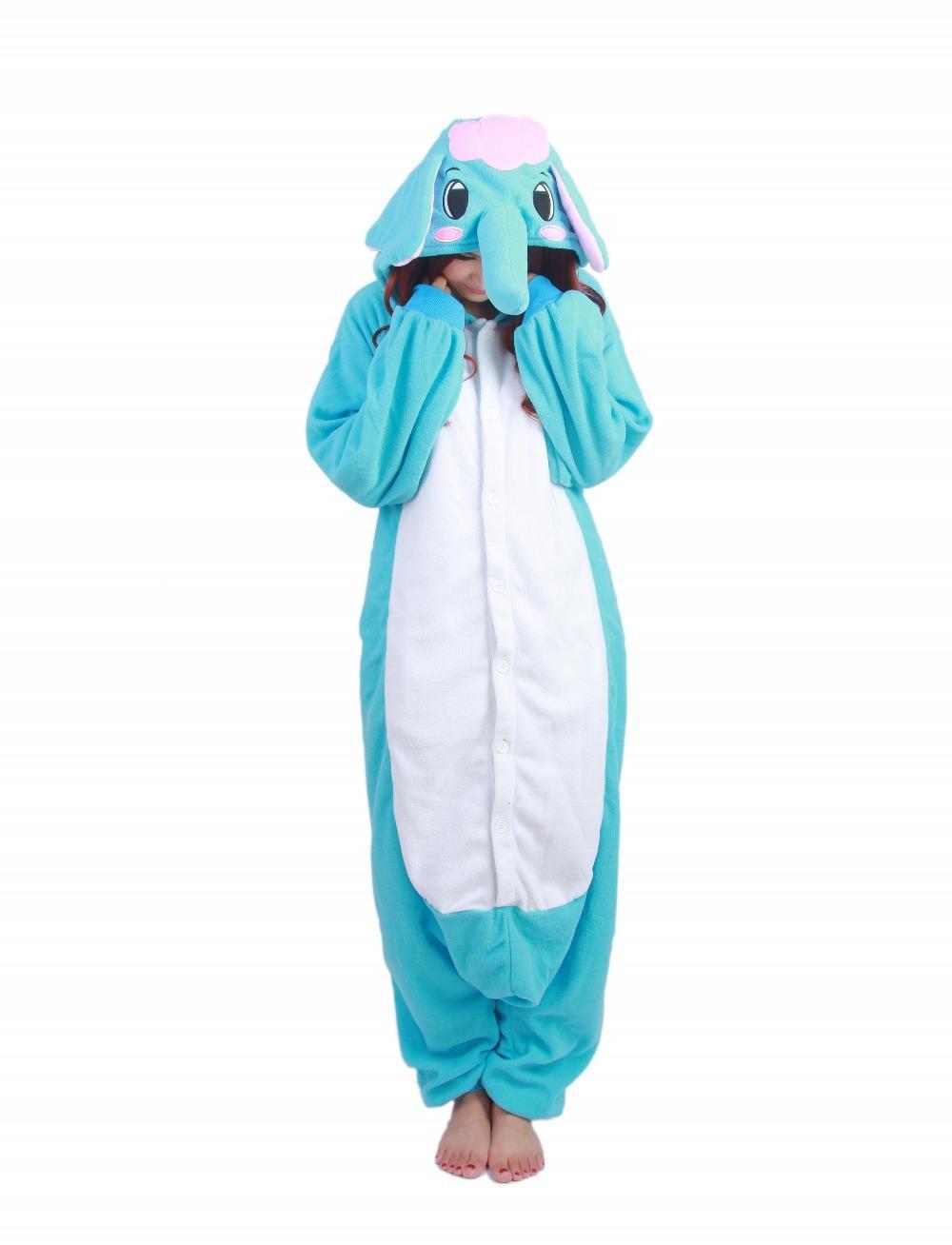 New Design Pyjamas Adult Animal Onesie Lovely Elephant Pajamas Sleepsuit For Unisex