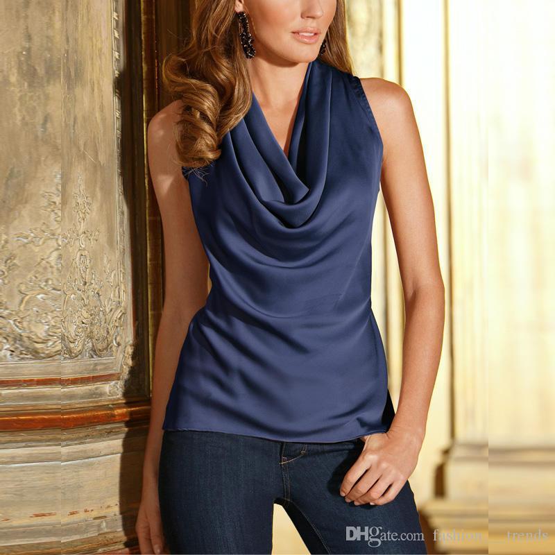 Горячая распродажа новый летний мода офисные рубашки Sexy шифон блузка элегантный дамы сплошной рубашки топы повседневная рукавов o-образным вырезом многоцветный женщин