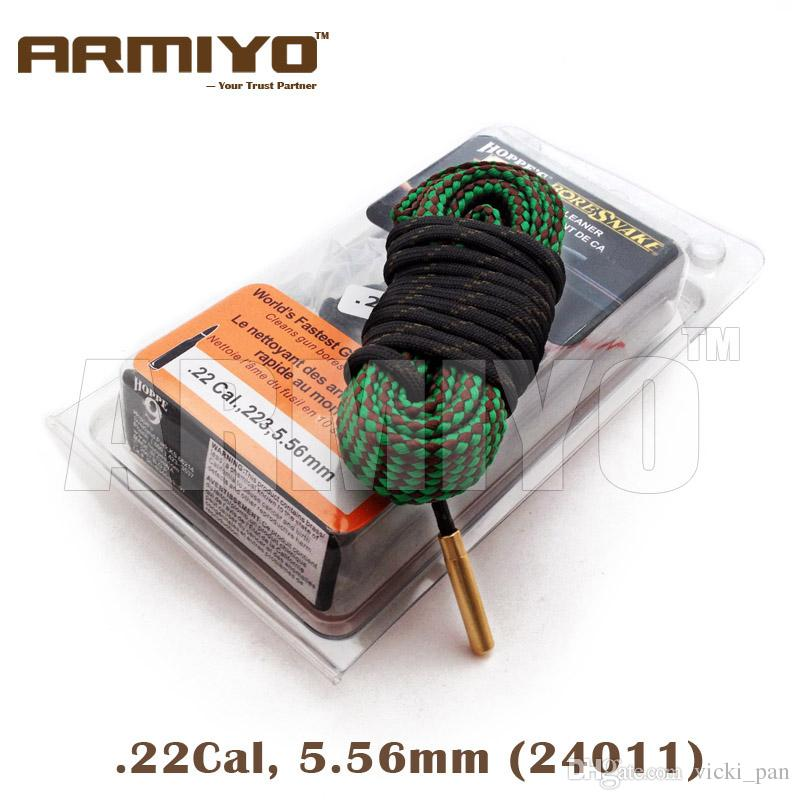 Armiyo Bore Snake Hoppe's 9 Boresnake Barrel Cleaner Rope Bore Snake Hunting Rifle Gun Brush Cleaning Sling .22Cal 5.56mm 24011