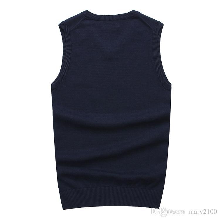 2018 New Men pull col V à capuche 100% coton Pulls POLO Pull homme Golf gilet Vêtements Pulls homme chauds