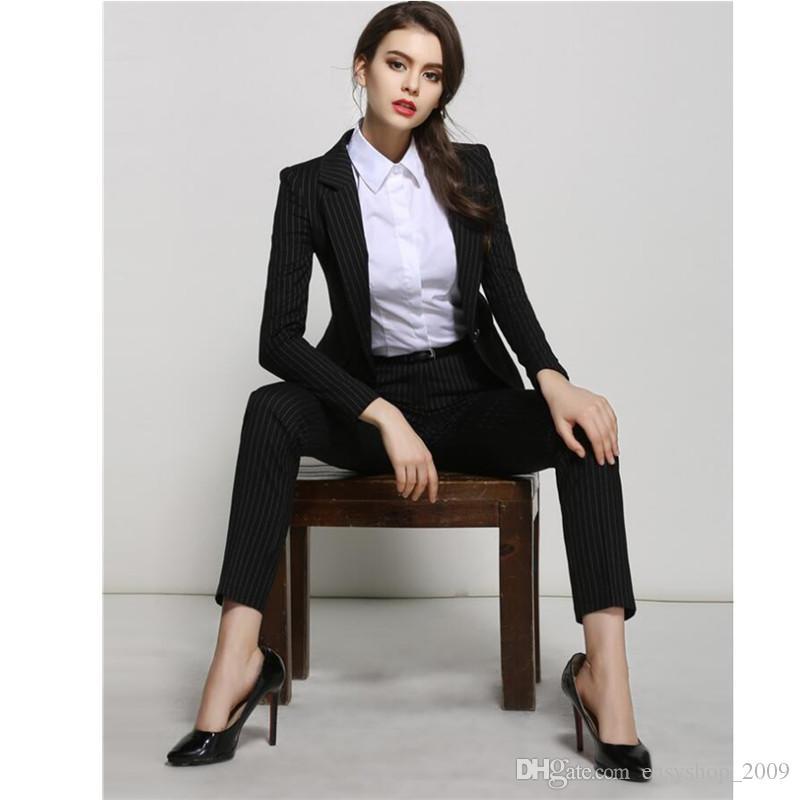 fe43040037a9b Satın Al İş Kadını Kıyafetleri Kadın Terlemeleri Tulumları Iki Parça Takım  Elbise Şerit Birinin Ahlak Kadın Takım Elbise Yetiştirmek, $110.76   DHgate.