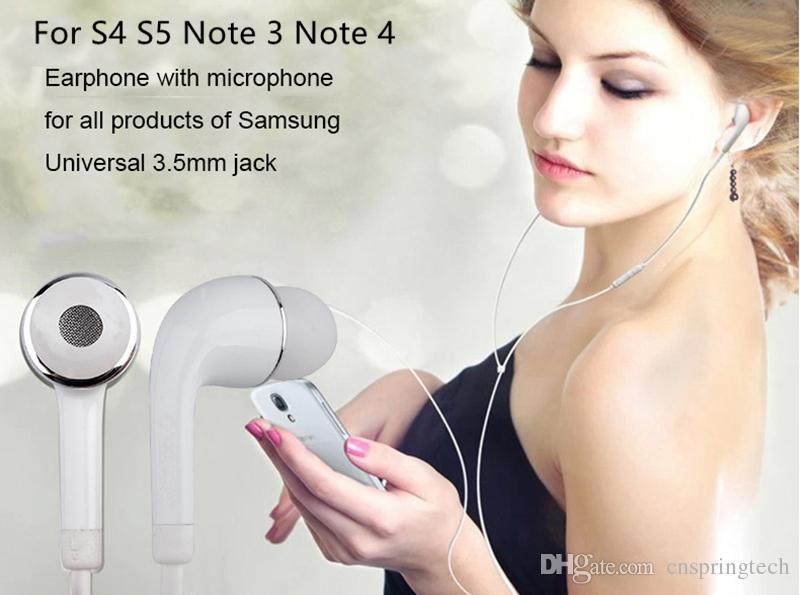 3.5 ملليمتر HS330 سماعات MIC Noodle Flat Cord EO-EG900BW EG900 لسامسونج i9500 note5 S4 S5 S6 Note3 A7 A8